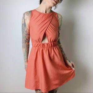 ASOS Petite Cut Out Backless Peach Dress